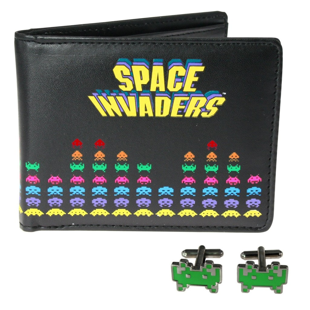 Billetera y gemelos de Space Invaders