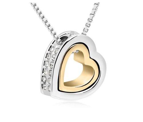 Colgante de corazón y cristales de Swarovski