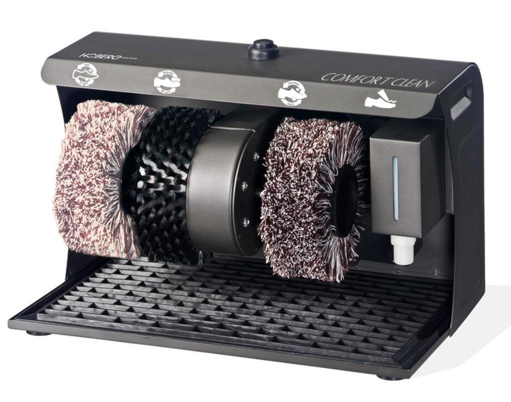 Máquina para la limpieza y aplicación de betún a los zapatos