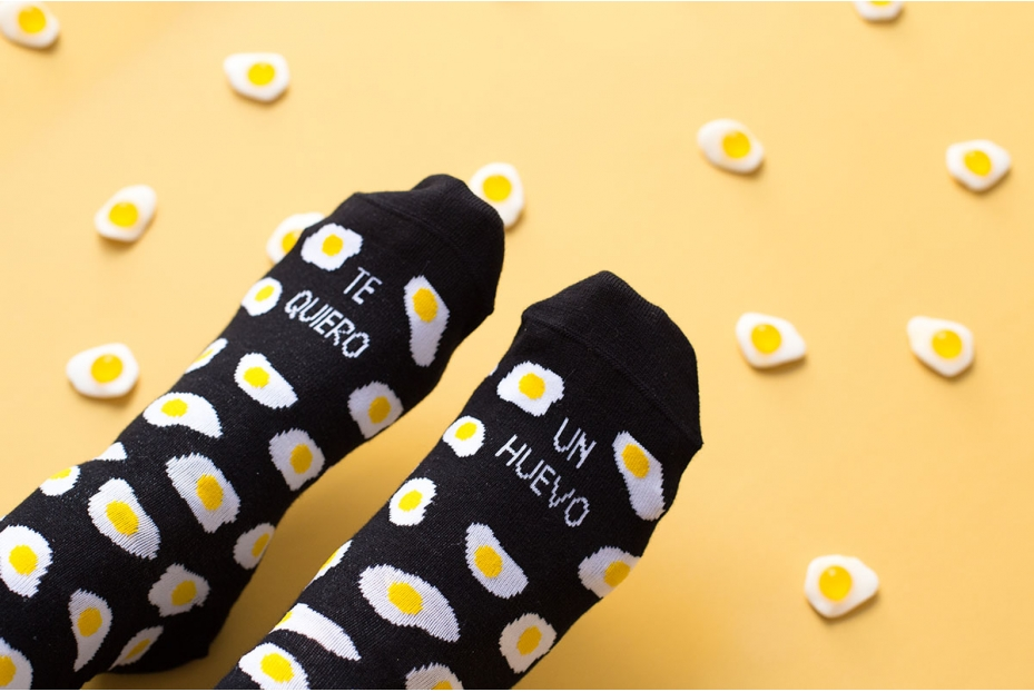 Divertidos calcetines de amor