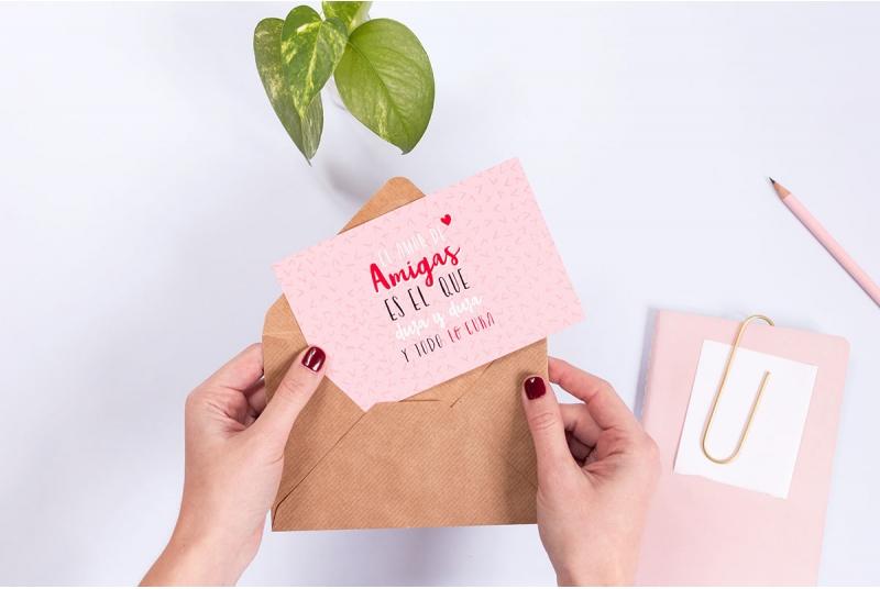 "Bonita postal ""el amor de amigas"""