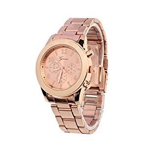 Coqueto reloj rosa palo