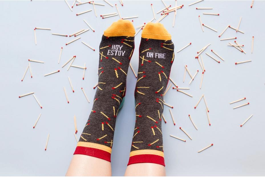 """Enérgicos calcetines """"fuego"""""""